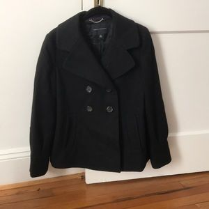Banana Republic black wool pea coat!